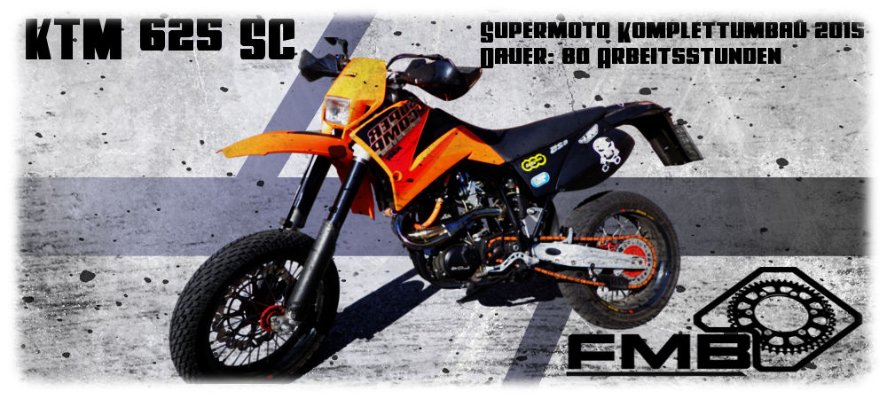 ktm lc4 625 sc supermoto umbau mit zylinderkopf tuning. Black Bedroom Furniture Sets. Home Design Ideas