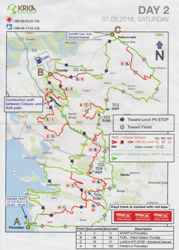 KRKA Enduro Raid Primosten Karte Map