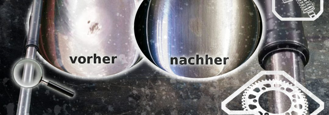 WP Cone Valve WP Factory Showa Öhlins Marzocchi Gabel Steinschlag KTM Husaberg Husqvarna Beta GasGas Tauchrohr Gabelholm Steinschlag polieren reparieren lasern undicht wegen Steinschlag